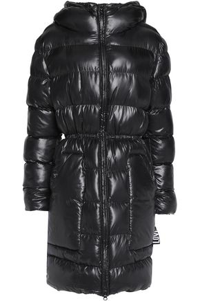 LOVE MOSCHINO Padded shell hooded coat