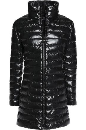 LOVE MOSCHINO Coated quilted shell coat