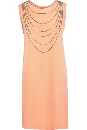MOSCHINO CHEAP AND CHIC Sequin-embellished twill mini dress