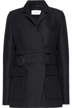 CARVEN Buckled cotton and wool-blend twill jacket