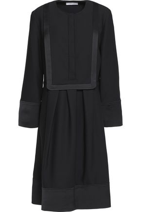 CARVEN Pleated crepe dress