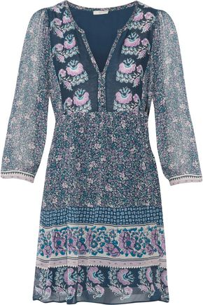 JOIE Floral-print silk-chiffon mini dress