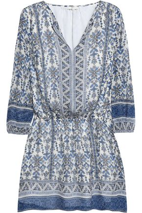 JOIE Galene printed silk mini dress