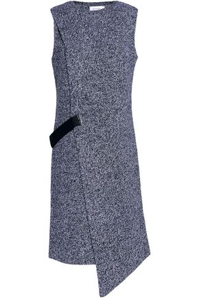 CARVEN Ribbed-wool wrap dress