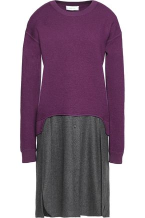 CARVEN Layered wool dress