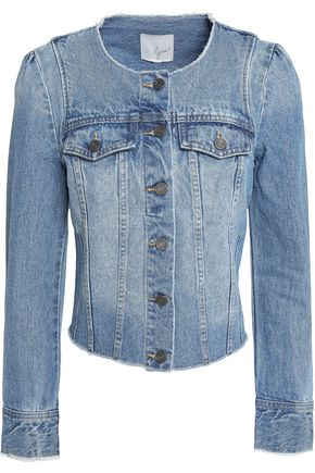 JOIE Cranham frayed denim jacket