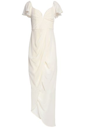 ZIMMERMANN Draped  silk crepe de chine maxi dress
