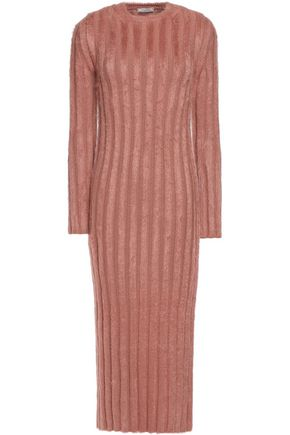 NINA RICCI Ribbed wool-blend midi dress