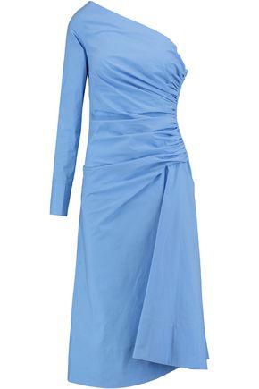 EMILIO PUCCI One-shoulder ruched cotton-blend dress