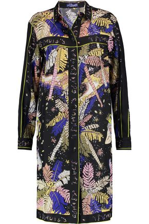EMILIO PUCCI Printed silk-satin dress