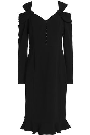 MIKAEL AGHAL Twisted cutout crepe dress