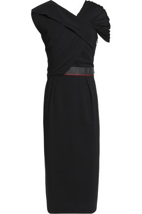 VIONNET Pleated-paneled crepe dress