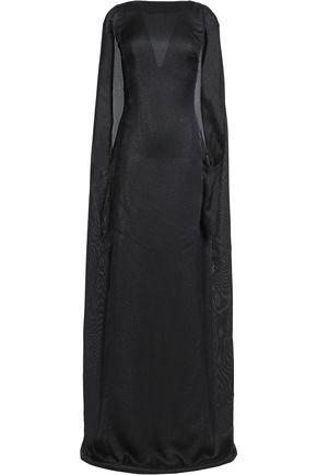 VIONNET Cape-effect open-back silk-blend maxi dress
