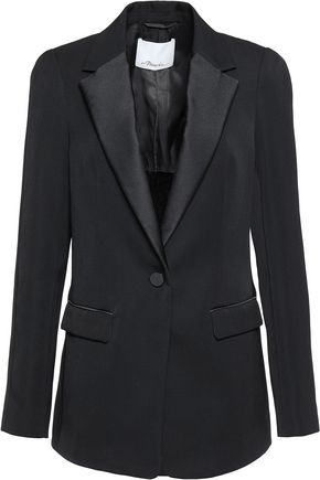 3.1 PHILLIP LIM Satin-trimmed wool blazer