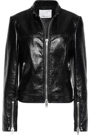 3.1 PHILLIP LIM Cotton-blend vinyl biker jacket
