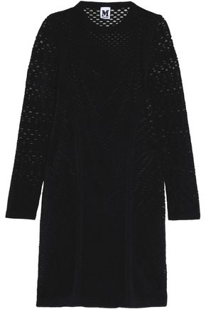 M MISSONI Laser-cut stretch-knit mini dress