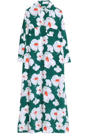 EQUIPMENT Floral-print silk maxi dress