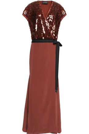 BY MALENE BIRGER Embellished silk and tulle gown