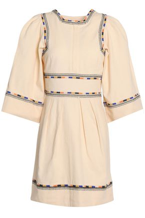 ISABEL MARANT Embroidered cotton mini dress