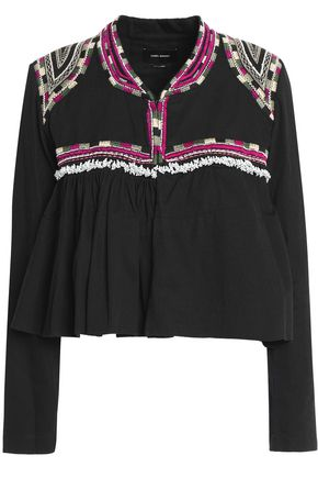 ISABEL MARANT Sabriel embellished embroidered cotton-twill jacket