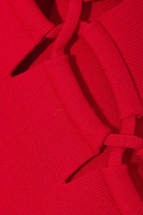 ALEXANDER WANG Lace-up back ribbed-knit top