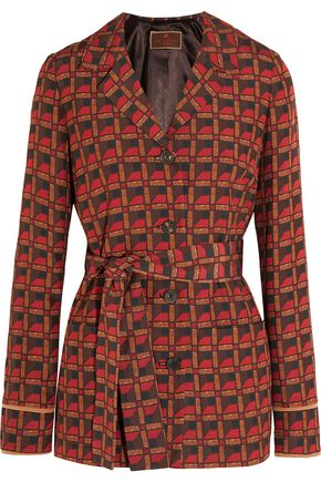 ETRO Printed silk-blend crepe jacket