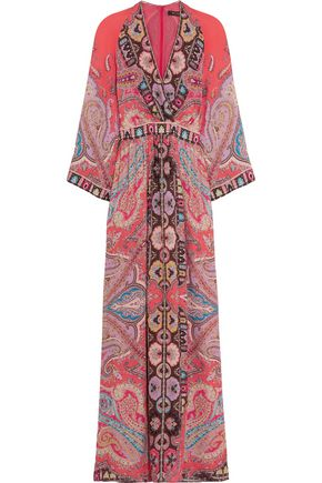 ETRO Printed silk crepe de chine maxi dress