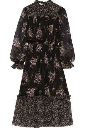 MICHAEL KORS COLLECTION Floral-print silk-chiffon midi dress