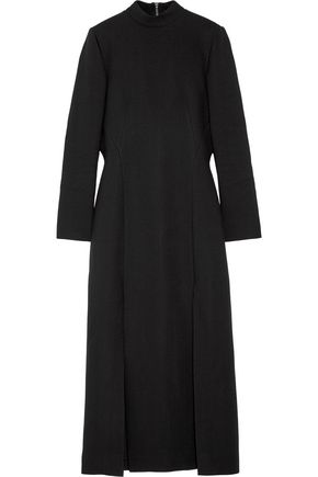 WES GORDON Split-front crepe maxi dress