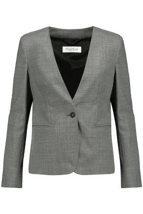 MAX MARA Printed wool-blend blazer