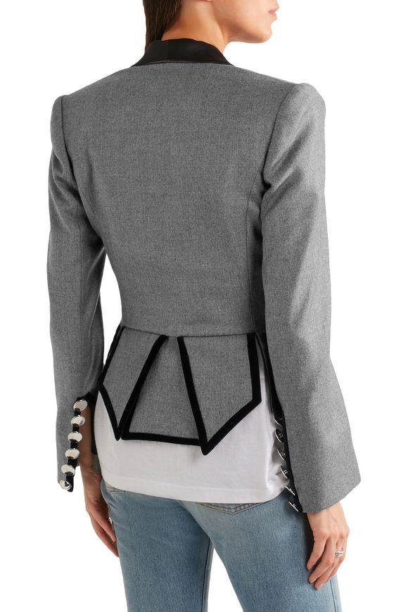 Cotton velvet-trimmed wool-flannel jacket   RONALD VAN DER KEMP   Sale up  to 70% off   THE OUTNET