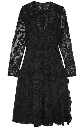 SIMONE ROCHA Chenille-embroidered tulle dress