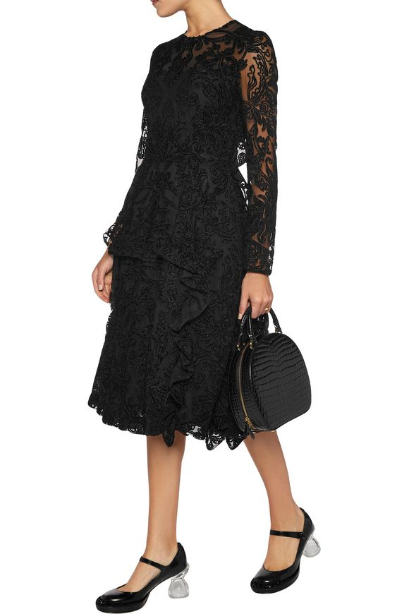 Chenille-embroidered tulle dress | SIMONE ROCHA | Sale up to 70% off | THE  OUTNET