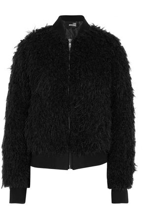 LOVE MOSCHINO Faux fur bomber jacket