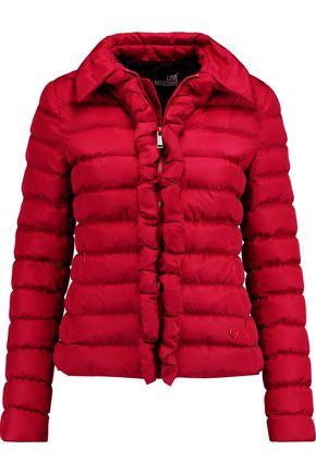 LOVE MOSCHINO Padded ruffle-trimmed shell jacket