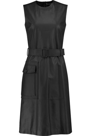 BOTTEGA VENETA Belted leather dress