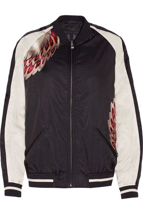 BELSTAFF Varley embroidered modal-blend bomber jacket