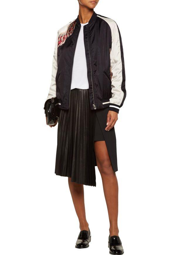 Varley embroidered modal-blend bomber jacket | BELSTAFF | Sale up to 70% off  | THE OUTNET