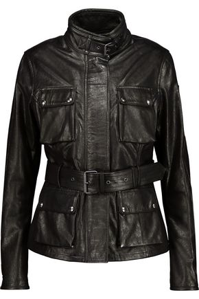 BELSTAFF Triumph belted textured-leather jacket