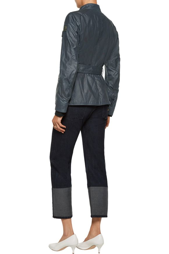 Roadmaster 2.0 belted coated cotton-canvas jacket | BELSTAFF | Sale up to 70%  off | THE OUTNET