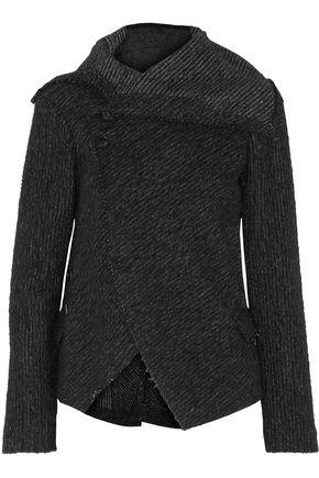 ISABEL MARANT Draped alpaca bouclé-tweed jacket