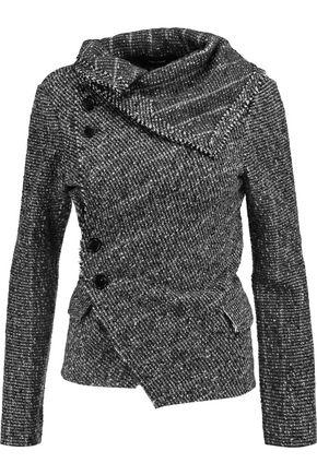ISABEL MARANT Histor asymmetric alpaca-jacquard jacket