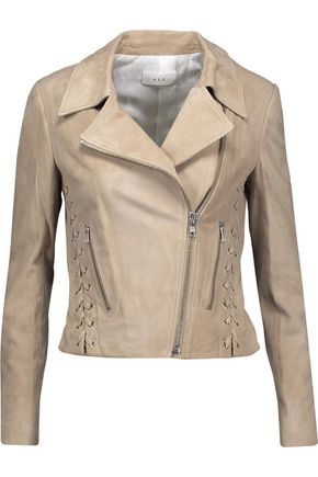 A.L.C. Syd lace-up suede biker jacket