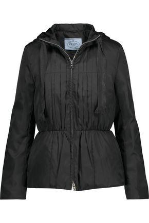 PRADA Pleated taffeta hooded down jacket
