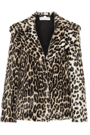 STELLA McCARTNEY Leopard-print faux fur coat