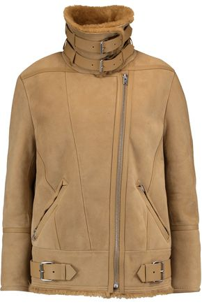 IRO Buckled shearling jacket