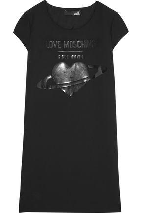 LOVE MOSCHINO Printed cady mini dress