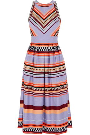 TEMPERLEY LONDON Charm paneled jacquard midi dress