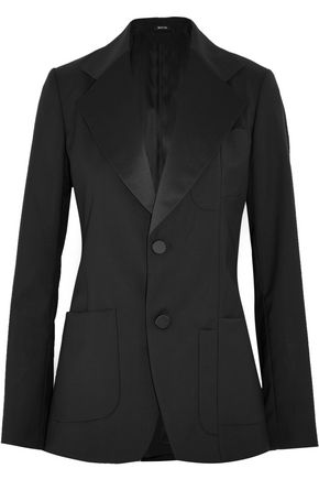 MAISON MARGIELA Satin-paneled wool blazer