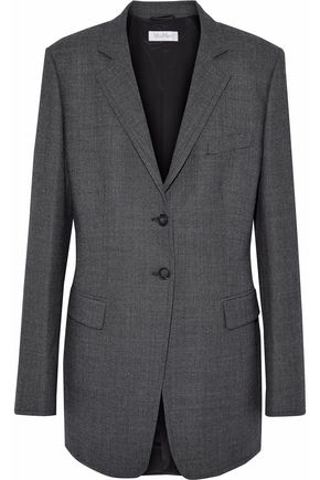 MAX MARA Virgin wool-tweed blazer